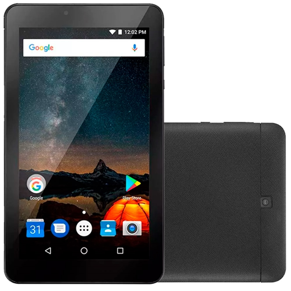 "Tablet Multilaser M7-S B273, Preto, Tela 7"", WiFi, Android 7.0, 2MP 8GB"