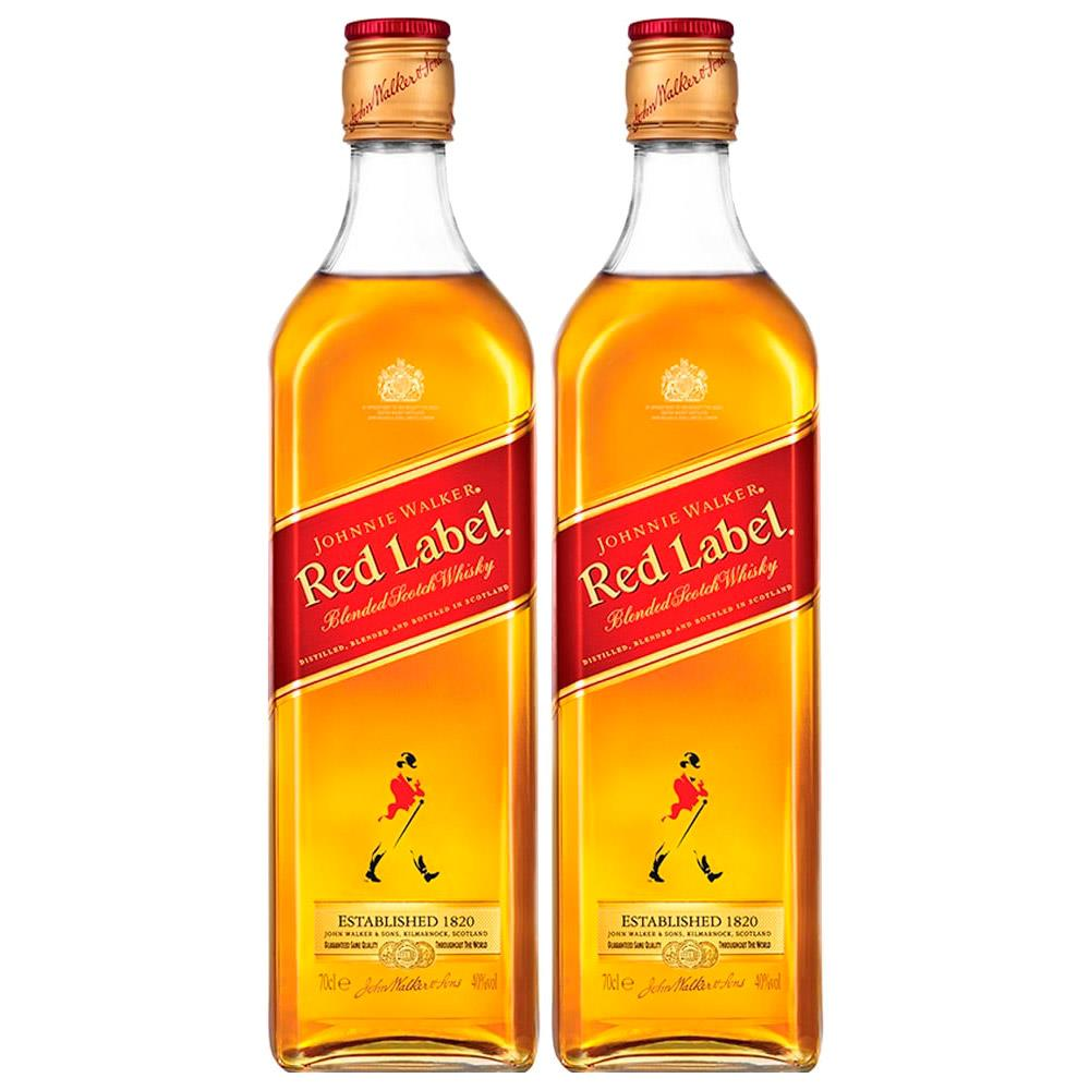 Kit 2 Whisky Importado Johnnie Walker Red Label 750ML