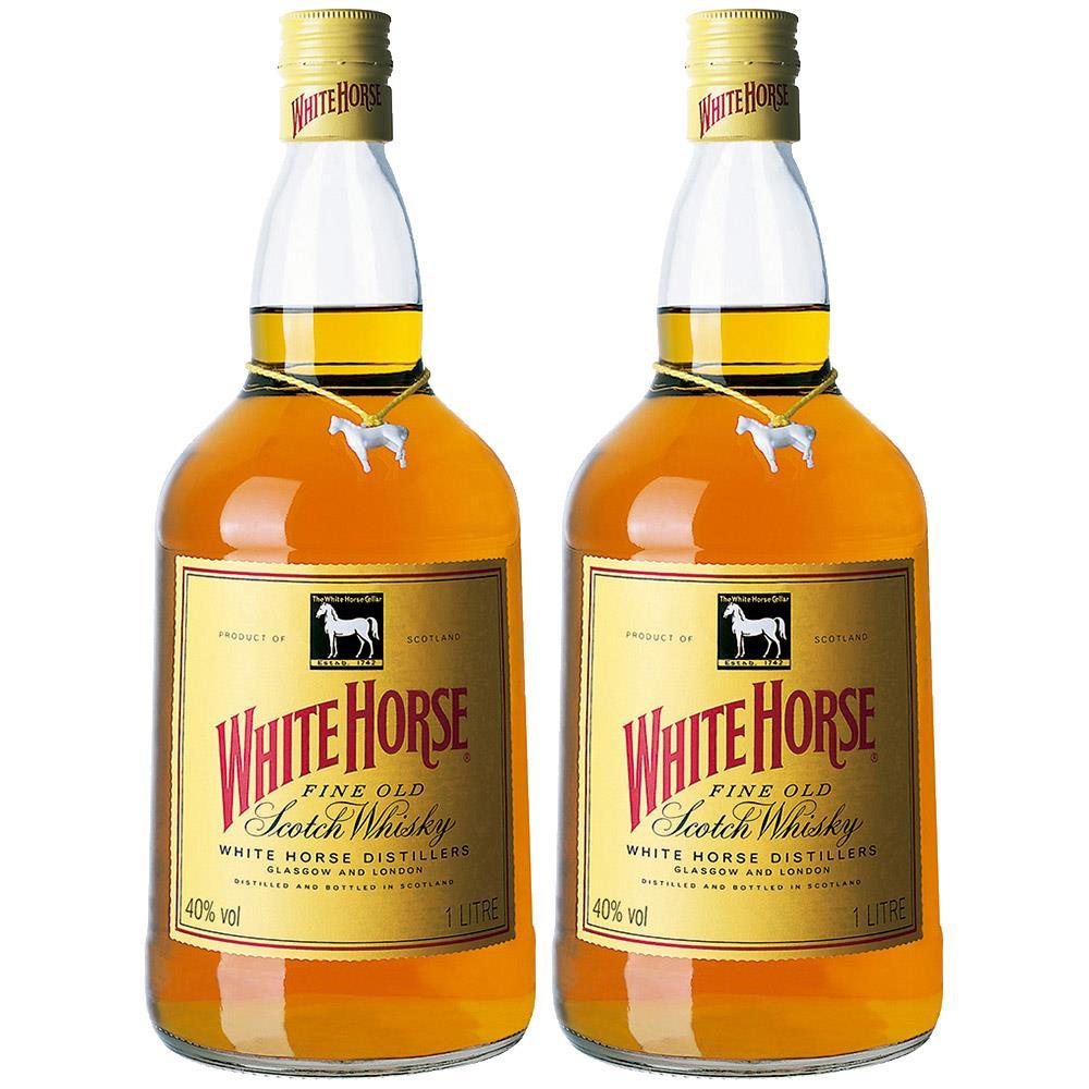 Kit 2 Whisky Importado White Horse 1L 8 anos