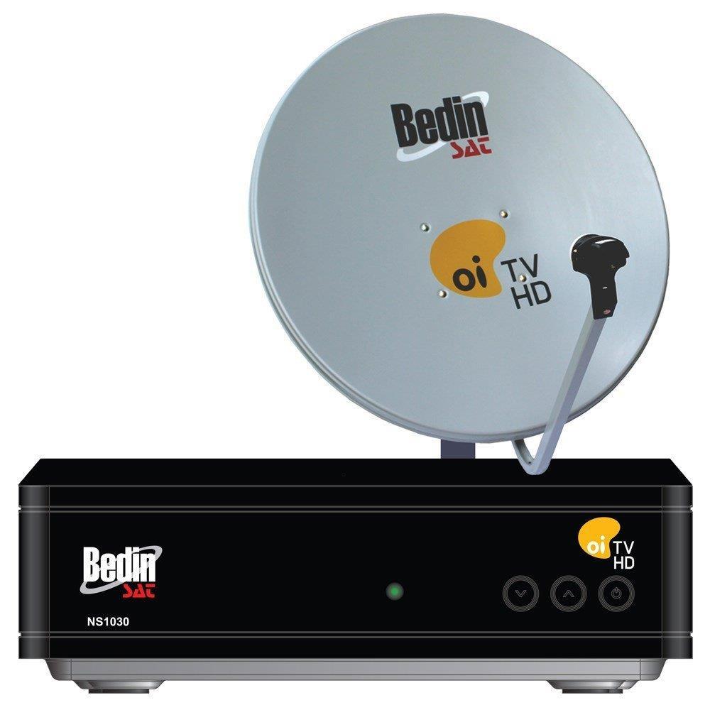 Antena  60cm com Multiponto Bedin SAT, Decoder e Cabos - Cromus