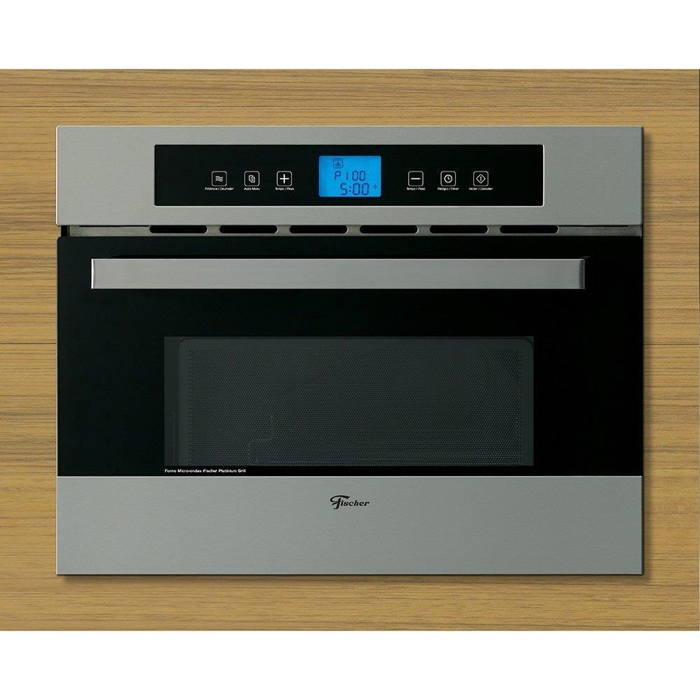 Micro-ondas de Embutir Fischer 34 Litros Platinum Inox
