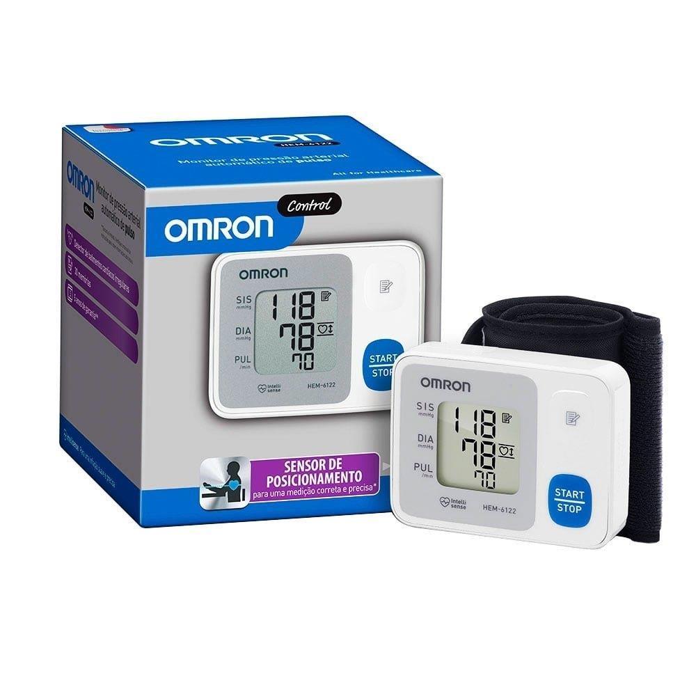 Monitor de Pressão Arterial HEM-6122 Digital de Pulso - Omron