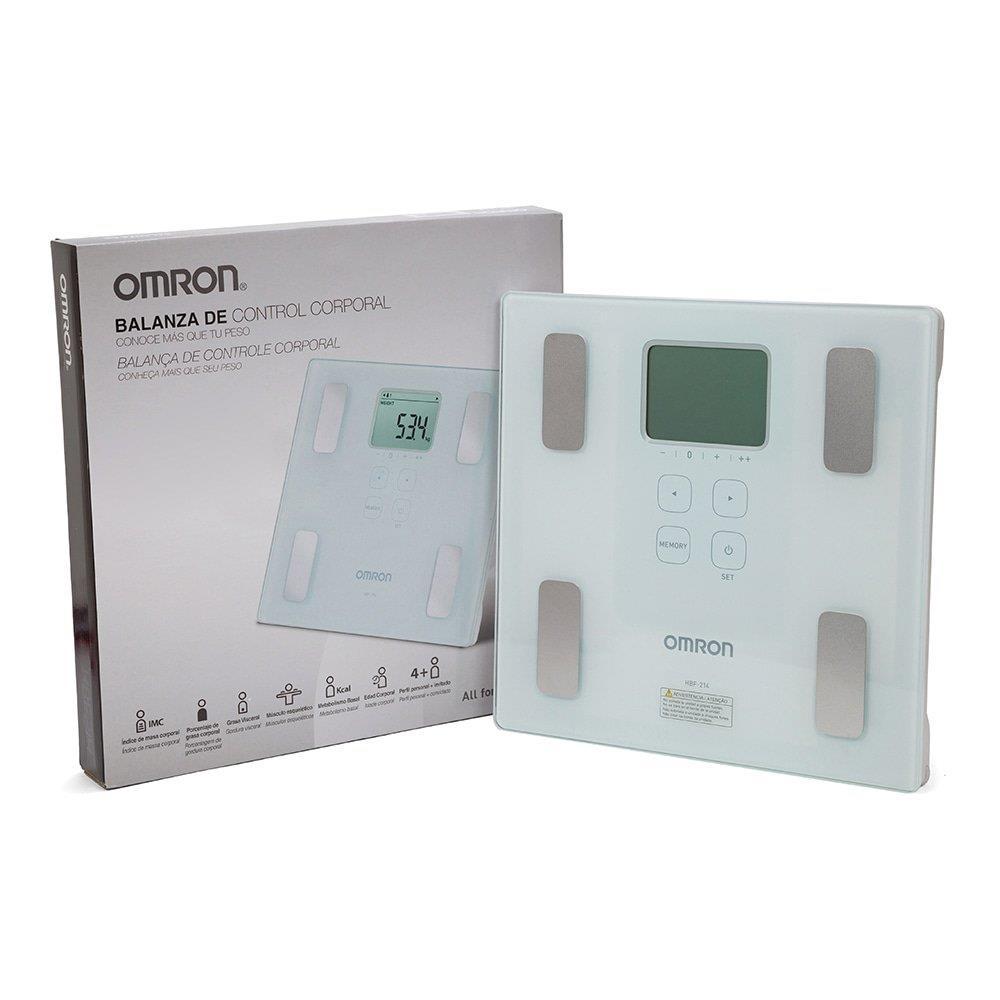 Balança de Controle Corporal HBF-214 Digital com Bioimpedância - Omron