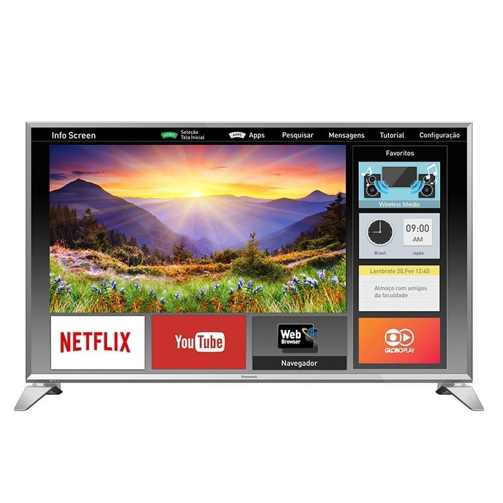 "Smart TV LED 43"" Panasonic TC-43ES630B Full HD com Wi-Fi, 2 USB, 3 HDMI, Media..."