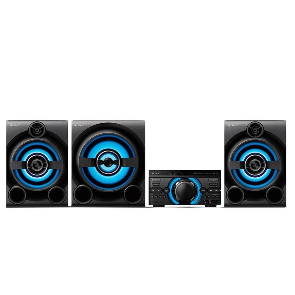 Mini System MHC-M80 com Mega Bass, USB, Bluetooth, Função DJ Karaokê, 2150W RMS...