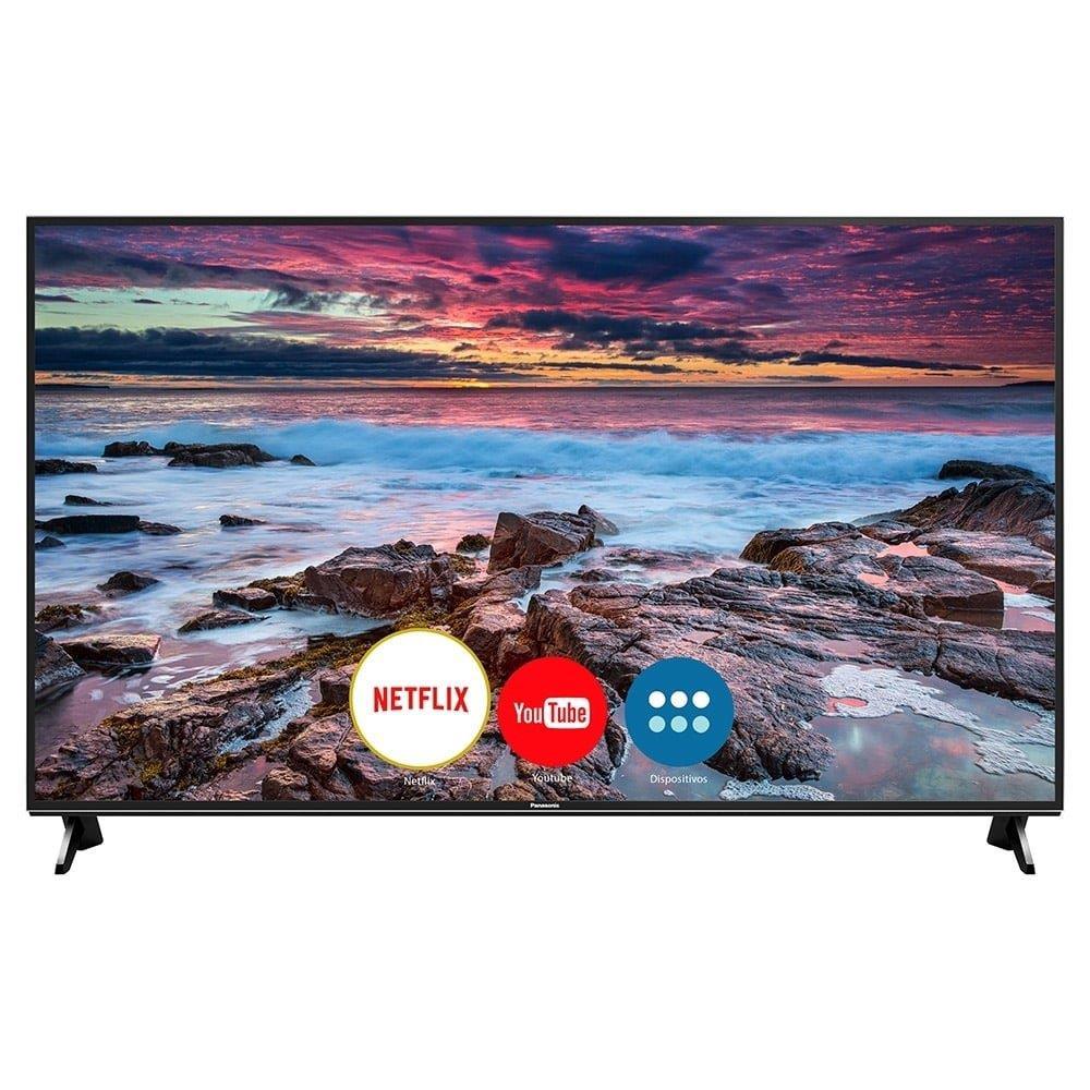 "Smart TV LED 65"" Panasonic TC-65FX600B 4K Ultra HD HDR com Wi-Fi, 3 USB, 3..."