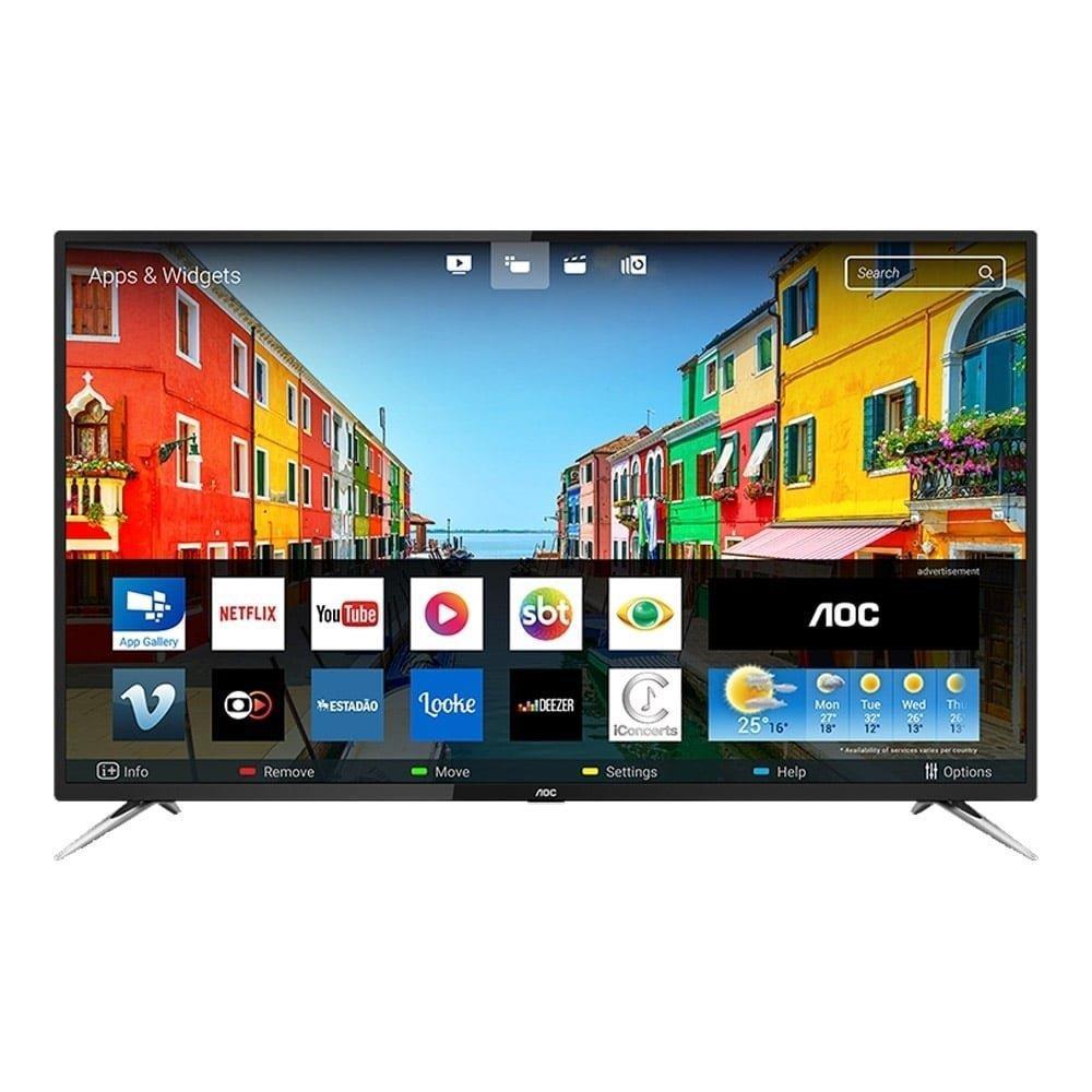 "Smart TV LED 50"" AOC LE50U7970S 4K UHD com Wi-Fi, 2 USB, 4 HDMI, Sleep Timer e..."