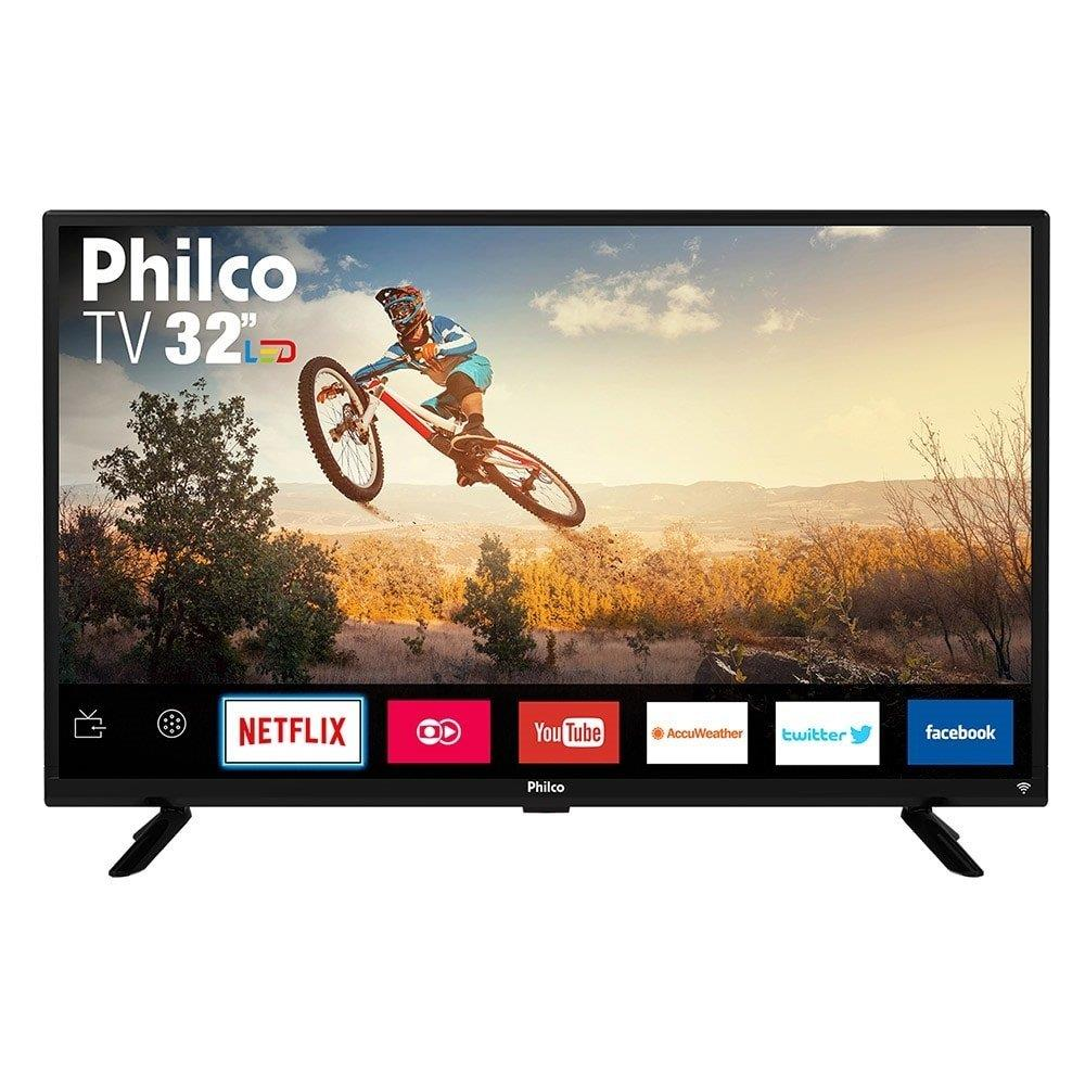 "Smart TV LED 32"" Philco PTV32G50SN HD com 1 USB, 2 HDMI, Ginga e 60Hz"