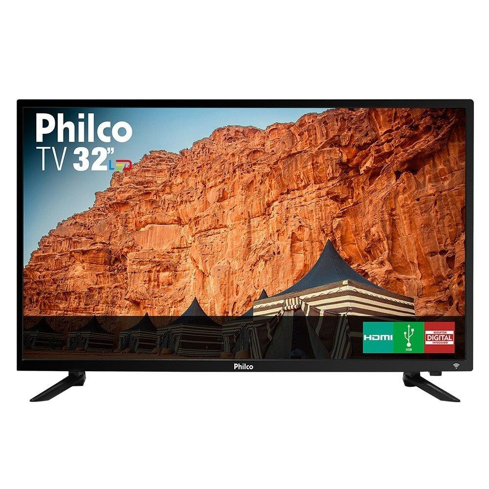 "TV 32"" LED Philco PTV32C30D HD ,1 USB, 2 HDMI, Guide, Sleep Timer e 60Hz"
