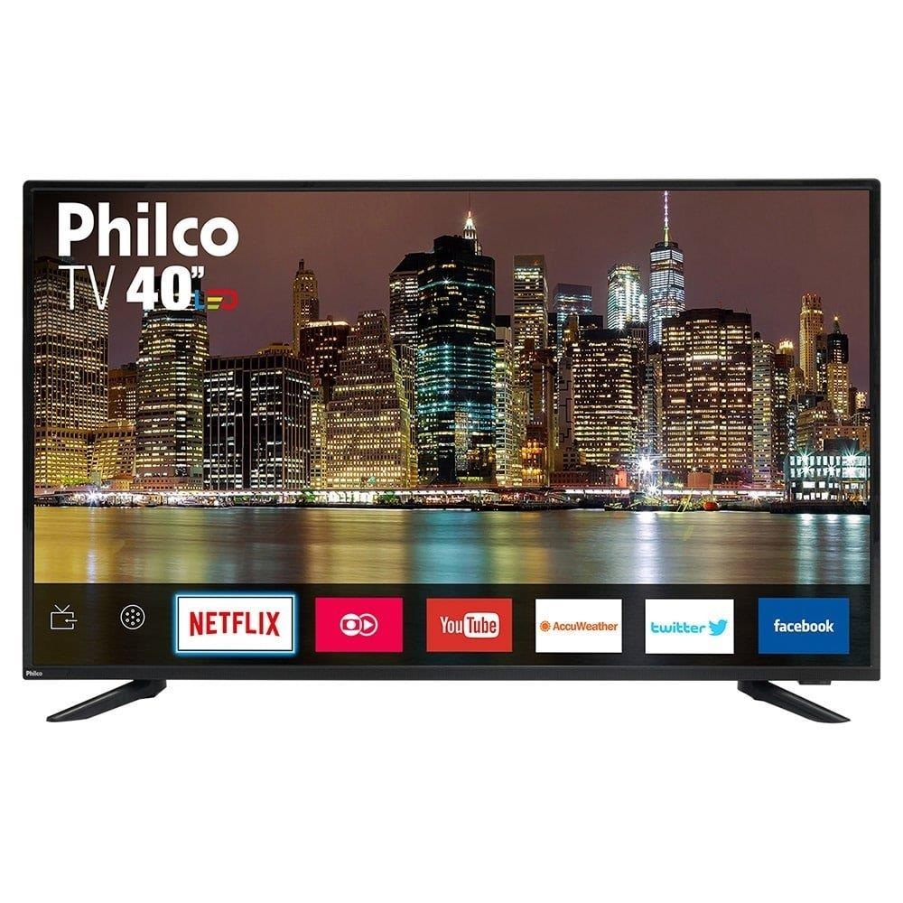 "Smart TV LED 40"" Philco PTV40E60SN Full HD Com 2 USB, 3 HDMI, Dolby Audio,..."
