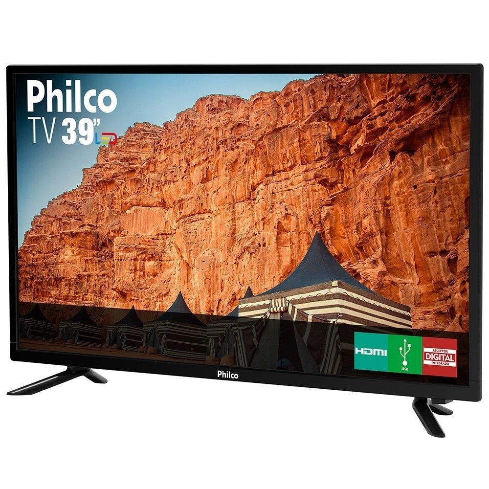 "TV LED 39"" Philco PTV39N87D HD com 1 USB, 3 HDMI e 60Hz"