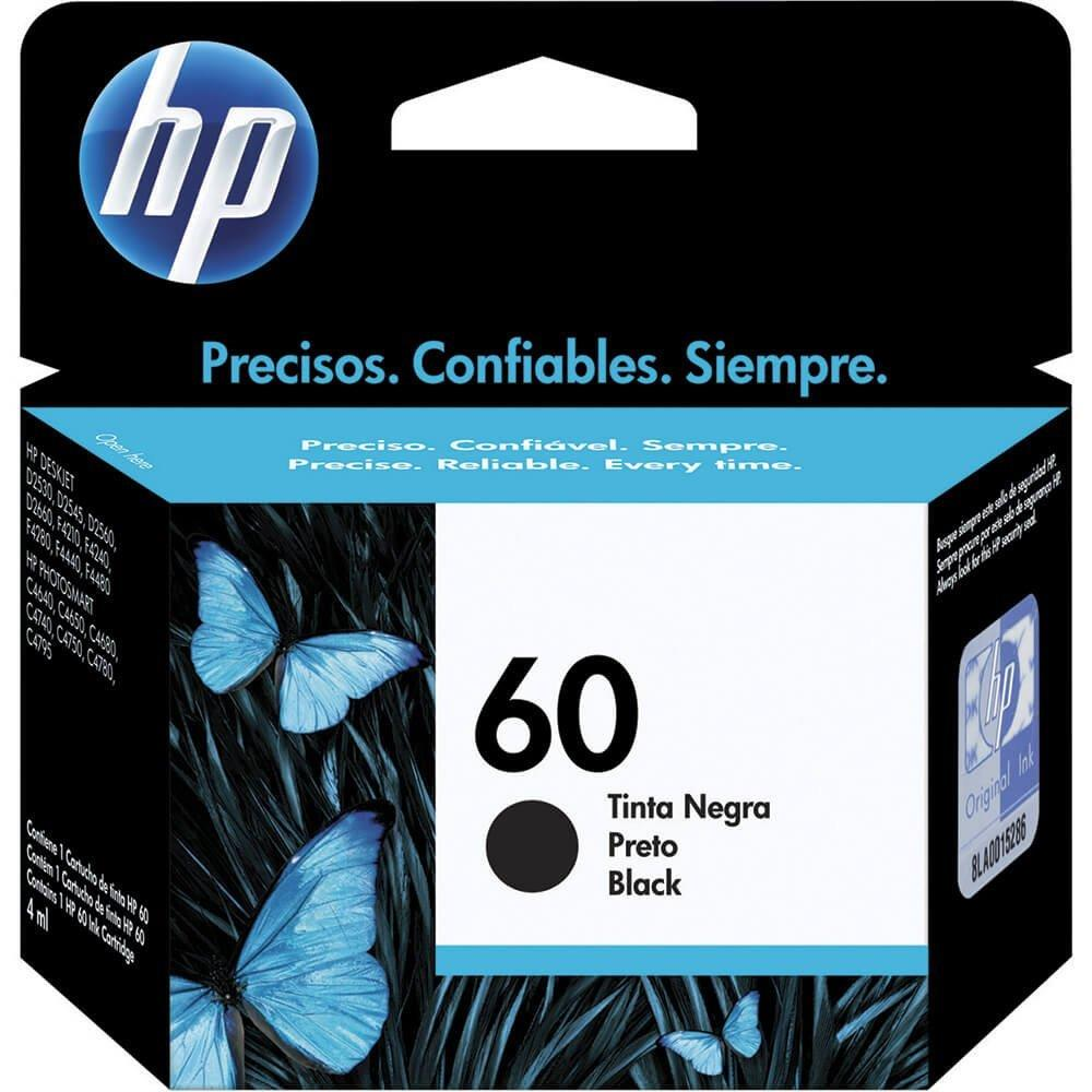 Cartucho Original HP  60 Preto CC640WB