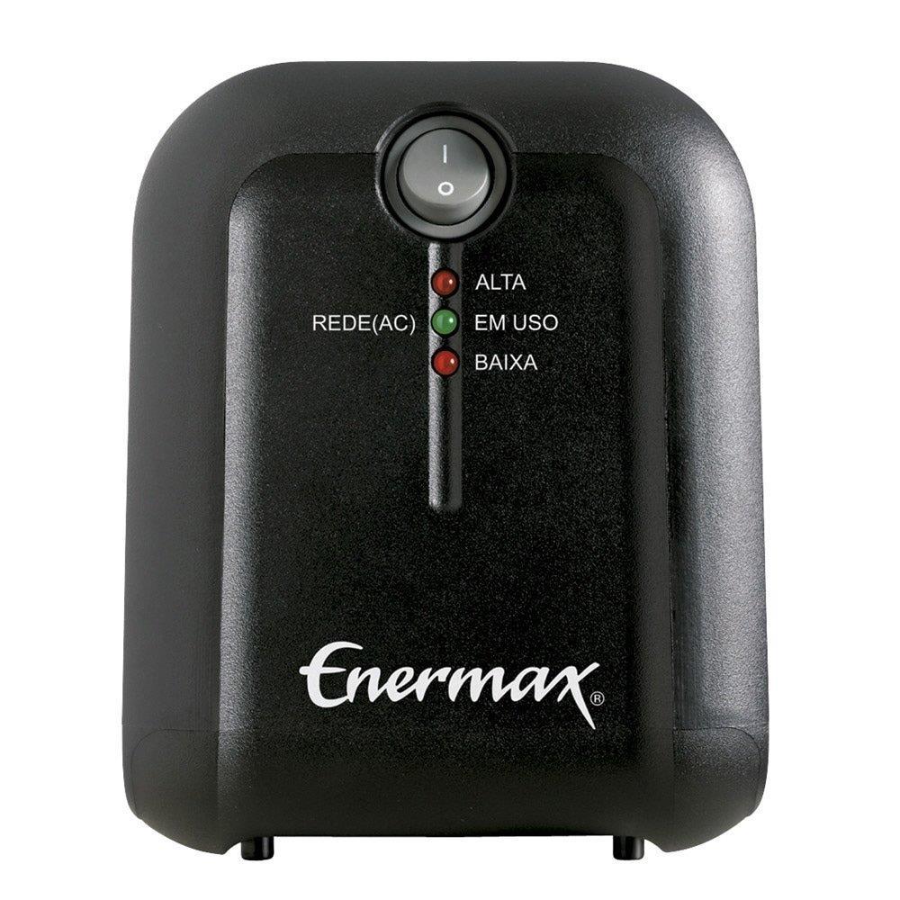 Foto 1 - Estabilizador EXS II Power T 500VA 4 Tomadas, Entrada Bivolt, Saída 110V - Enermax