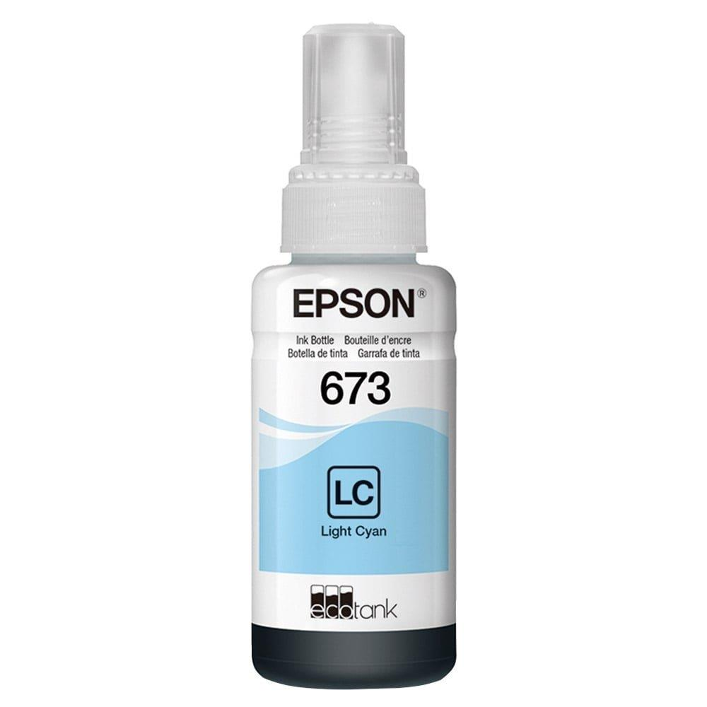 Refil de Tinta Epson 673 Ciano Claro