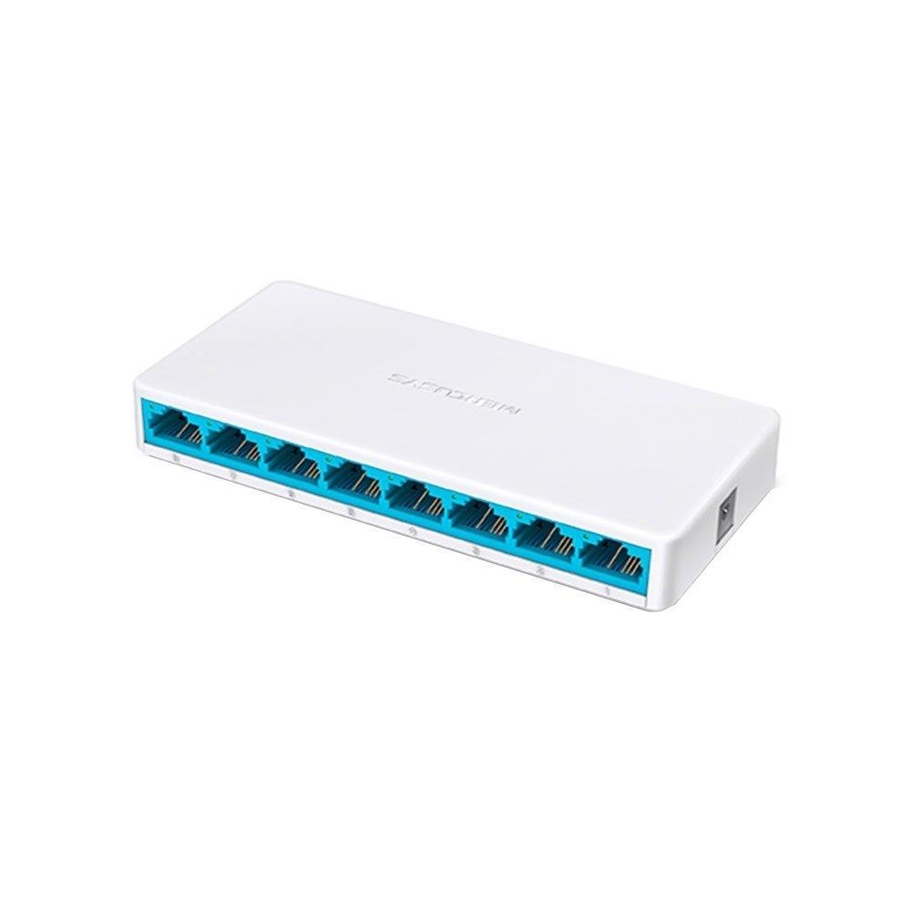 Foto 1 - Switch MS108 8 Portas Ethernet RJ45 10/100MBPS Auto-MDI/MDIX - Mercusys