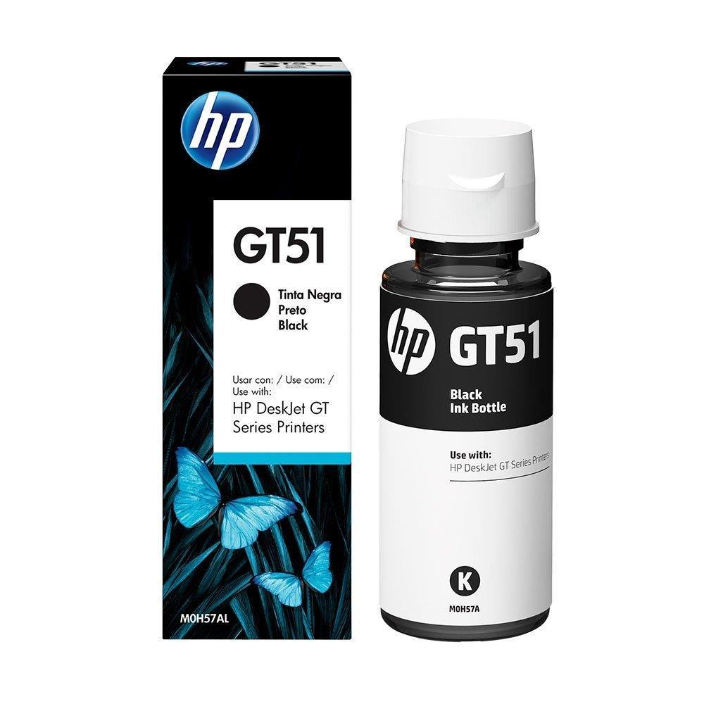 Refil de Tinta Original HP GT51 Preto M0H57AL - DeskJet GT 5822