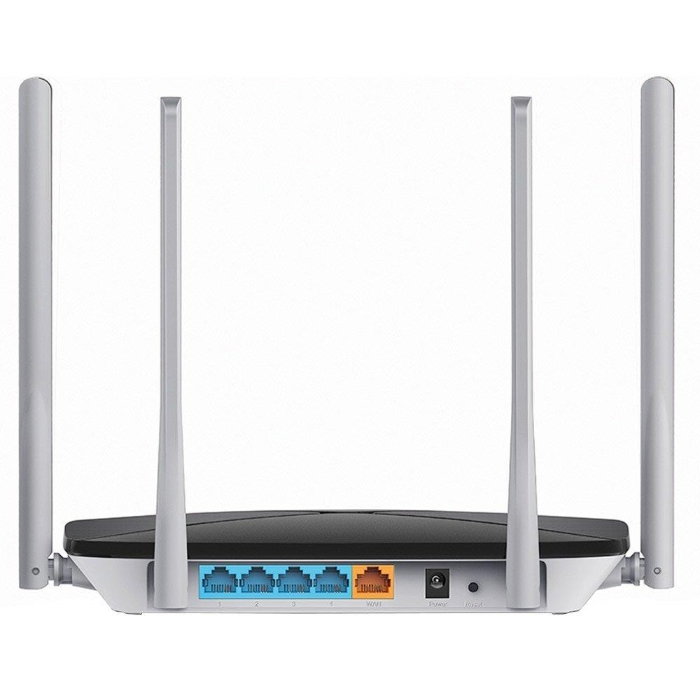 Foto 3 - Roteador Wireless AC12 V1 1200Mpbs, Dual Band, 4 Portas, 4 Antenas 5dBi- Mercusys