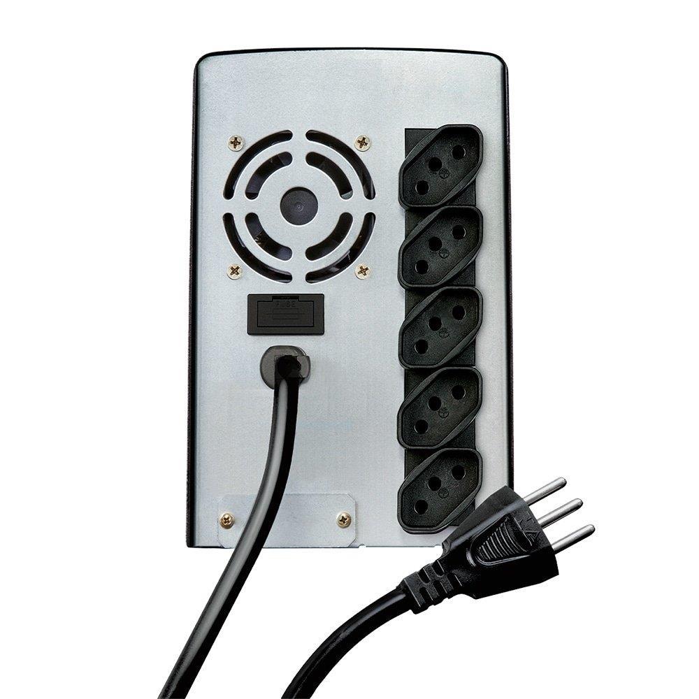 Foto 3 - Nobreak NET 4+ 1500VA Entrada e Saída 110V com Conexão para Bateria Externa - SMS