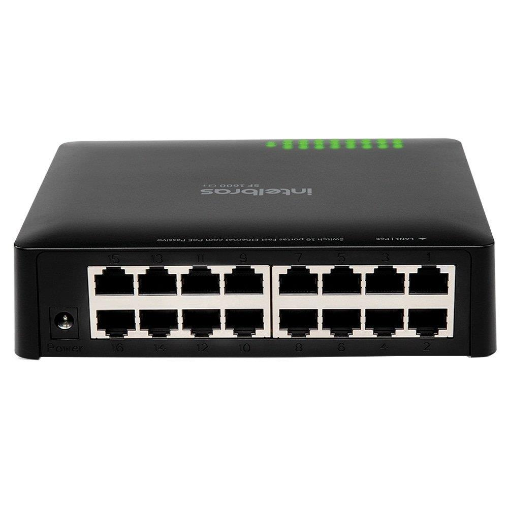 Switch SF1600Q+ 16 Portas, Fast Ethernet 10/100Mbps - Intelbras