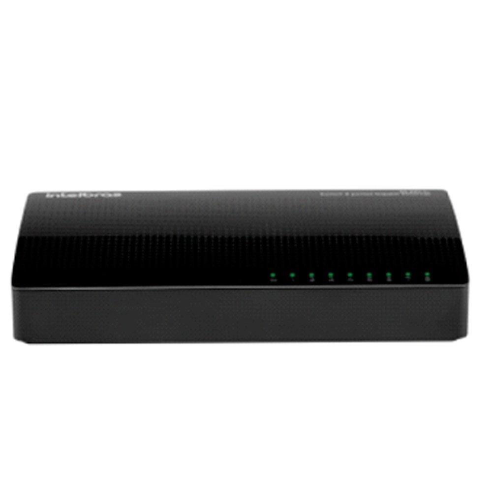 Switch SG800Q+ 8 Portas, 10/100/1000MBPS, Plug & Play - Intelbras