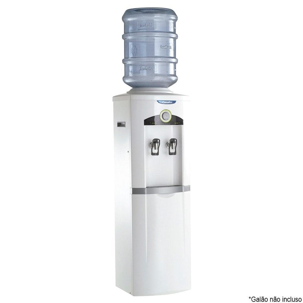 Bebedouro de Água de Coluna Esmaltec Gelagua EGC35B com Compressor Branco