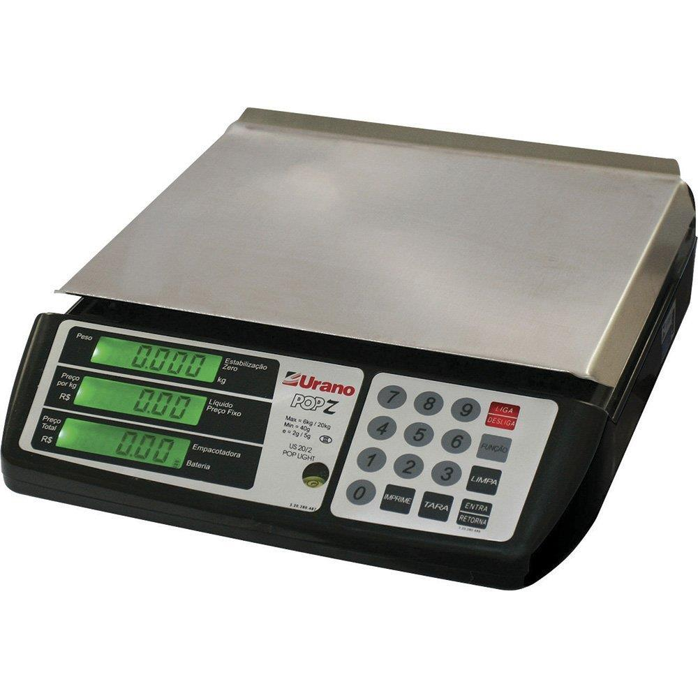 Balança POP-Z US 20Kg/2g Light Preta c/ Bateria Bivolt