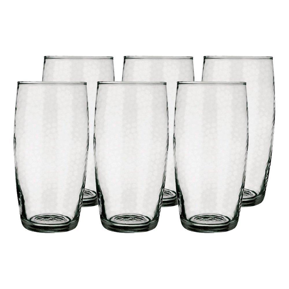 Conjunto de Copos 430ml Favo Long Drink com 6 Peças - Nadir