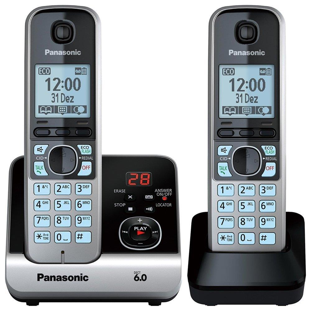 Telefone sem Fio KX-TG6722LBB Preto ID. Chamadas, Viva-Voz, Secretária...