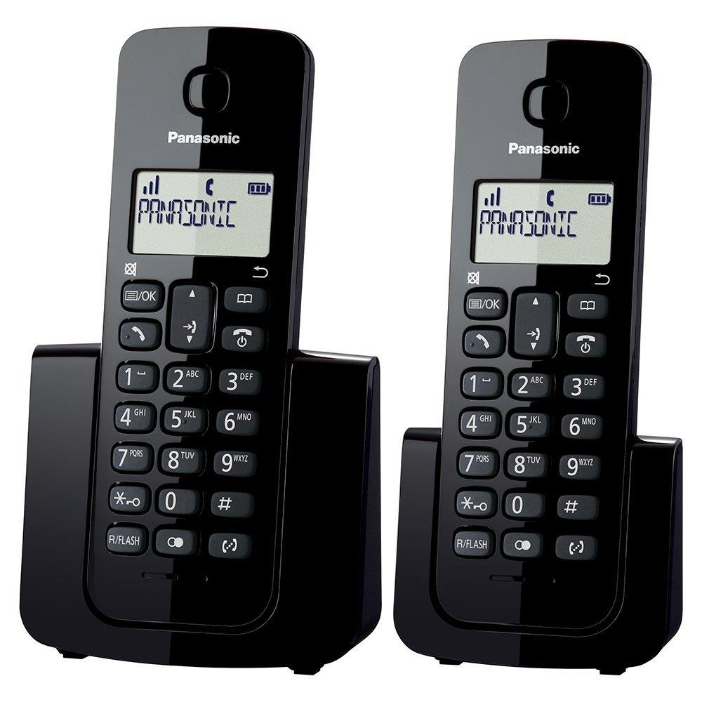 Telefone sem Fio KX-TGB112LBB Preto com Identificador de Chamadas + Ramal -...