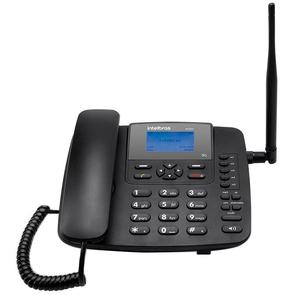 Telefone Celular Intelbras Fixo CF6031, Preto, 3G, Função Modem 3G
