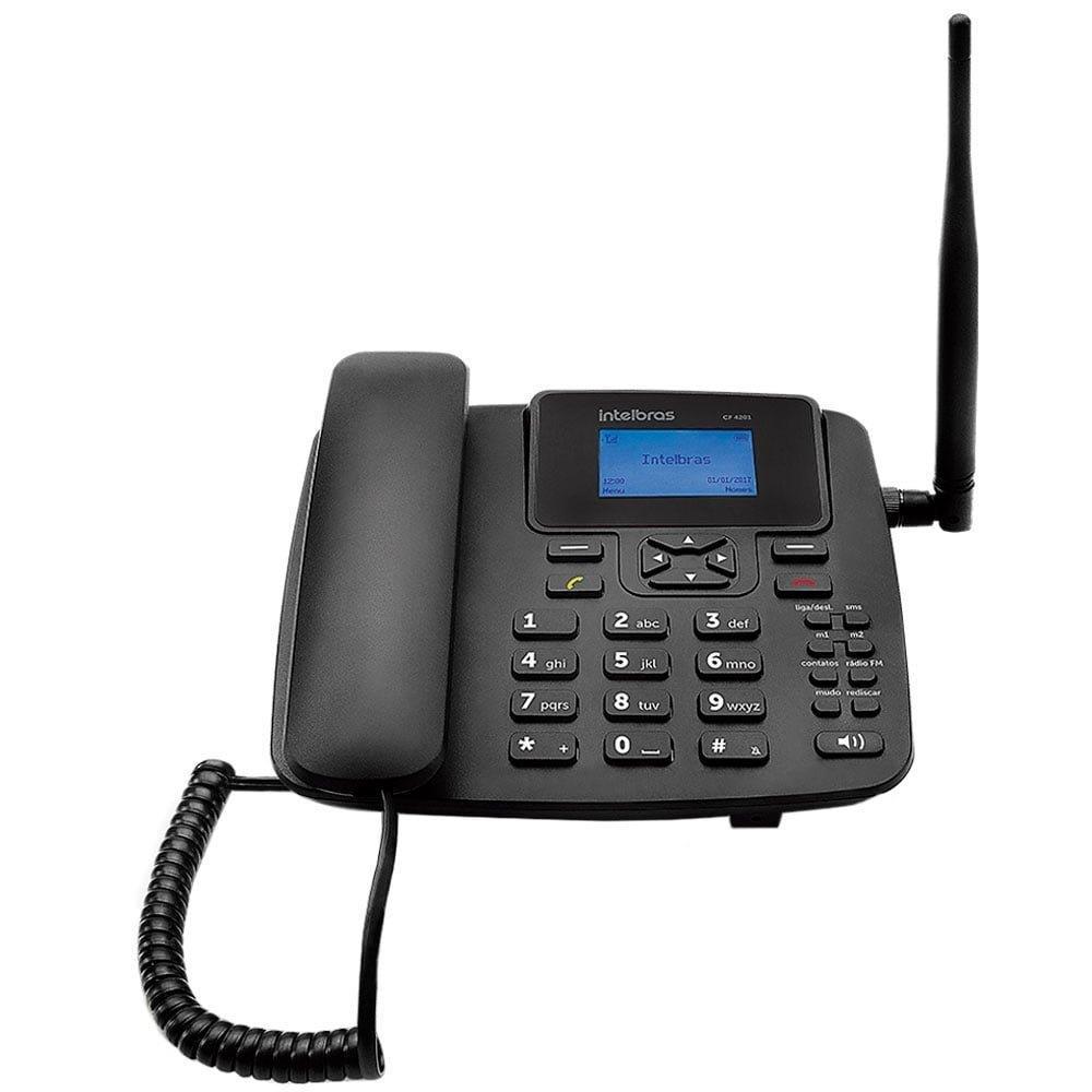 Telefone Celular Fixo CF4201 GSM com Identificador de Chamada, Viva Voz -...