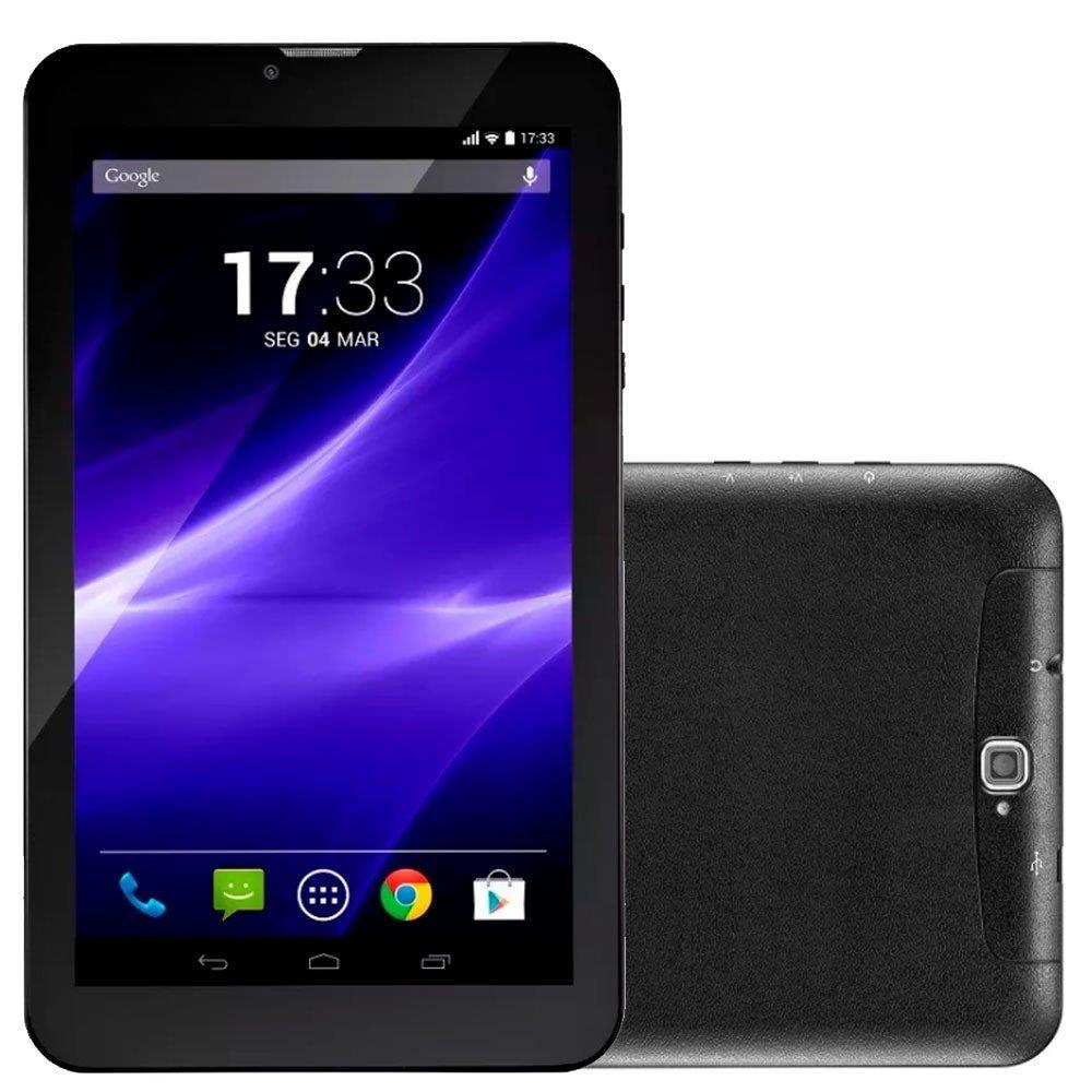 """Tablet Multilaser NB247 M9 3G Preto, Tela 9"""", 3G+WiFi, Android 6.0, 2MP, 8GB"""