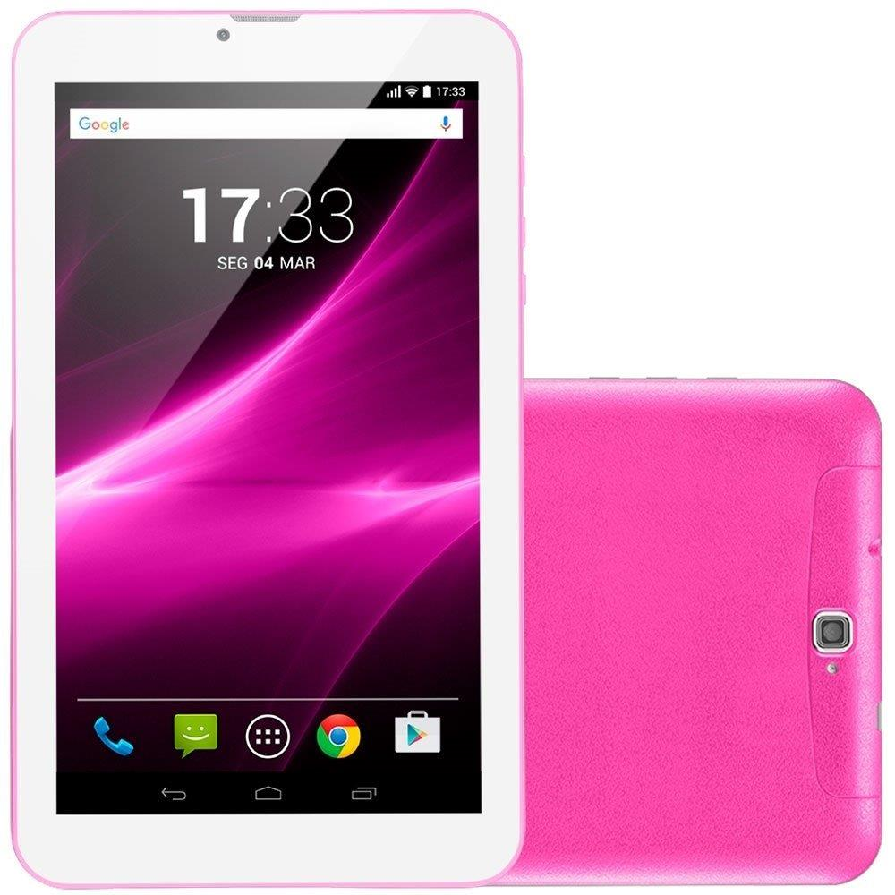 "Tablet Multilaser M9 NB248 3G Rosa, Tela 9"", 3G+WiFi, Android 6.0, 2MP, 8GB"
