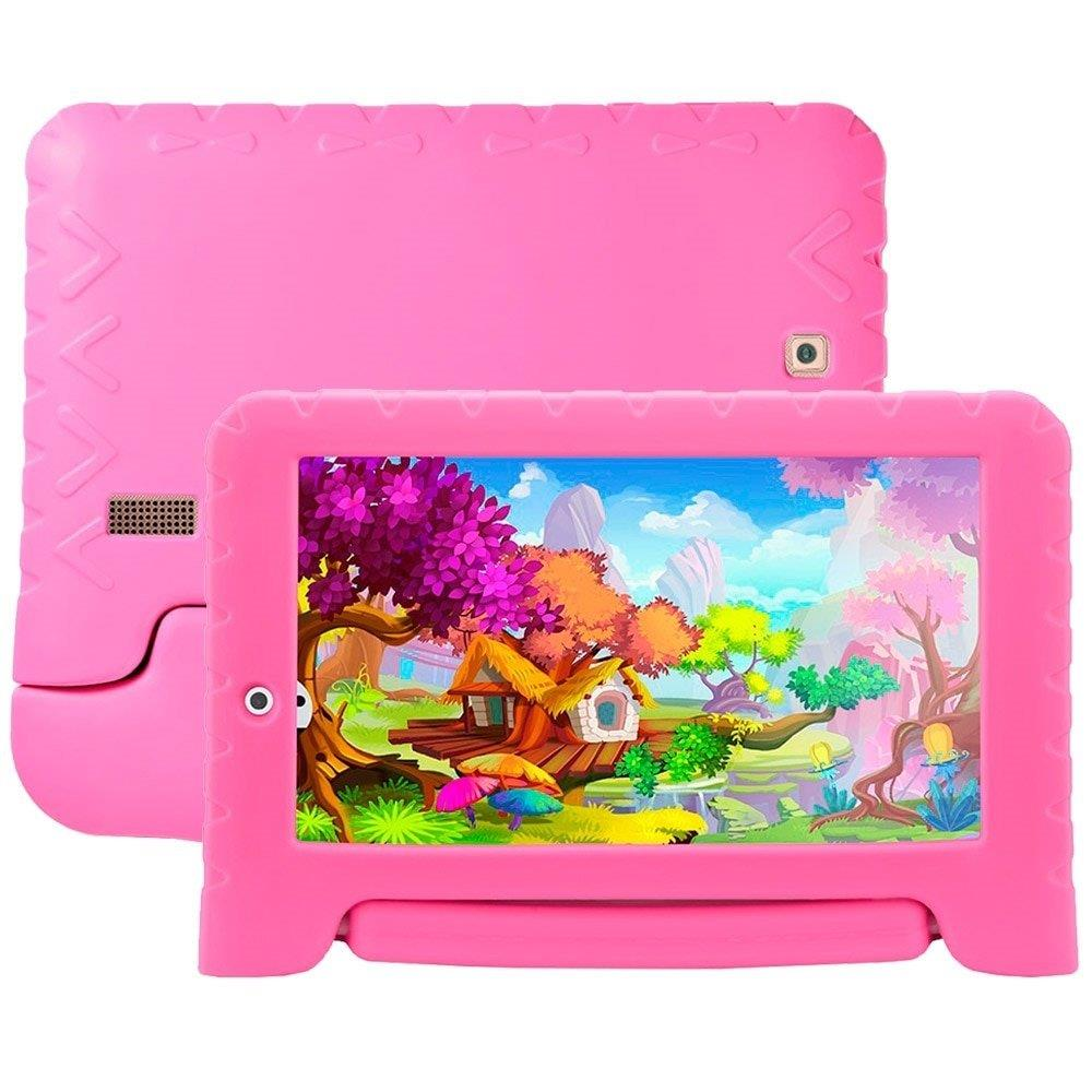 "Tablet Multilaser NB279 Kids Pad Plus Rosa, Tela 7"", WiFi, Android 7.0, 2MP, 8GB"