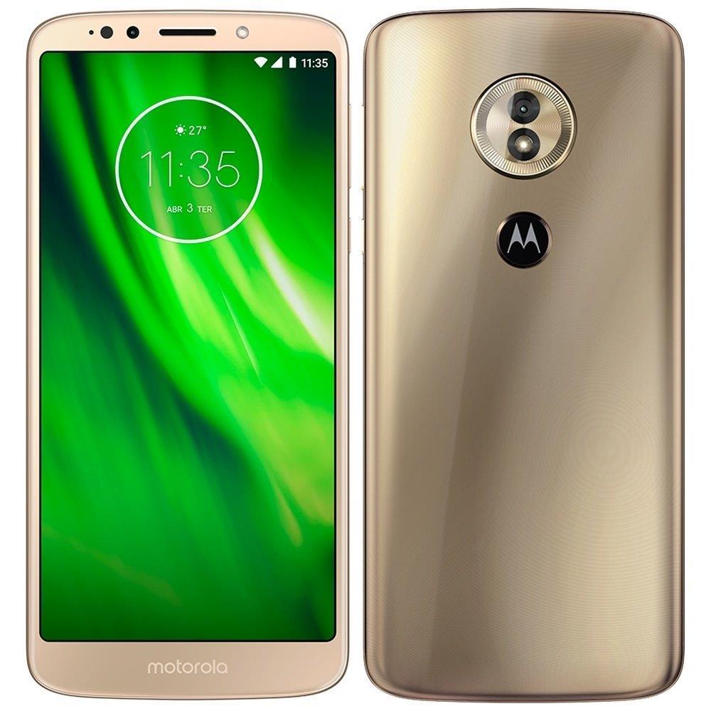 "Smartphone Motorola Moto G6 Play, Dual Chip, Dourado, Tela 5.7"", 4G+WiFi,..."