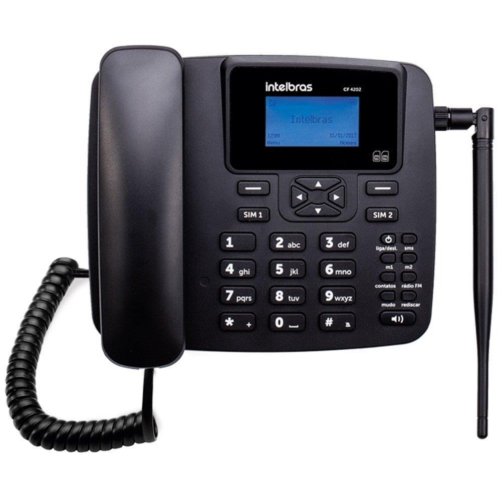 Telefone Celular Fixo Intelbras CF 4202 GSM Dual Chip