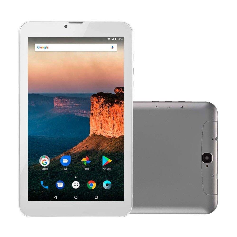 "Tablet Multilaser M9 Prata, Tela 9"", 3G+WiFi, Android 7.0, 2MP, 8GB"