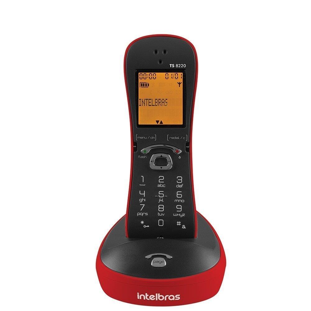 Telefone Intelbras sem Fio TS8220 com Identificador de Chamadas, Capacidade...