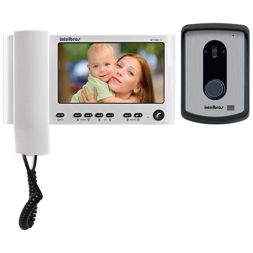 "Video Porteiro Intelbras IV 7010HS Monitor LCD 7"" com Monofone Branco"