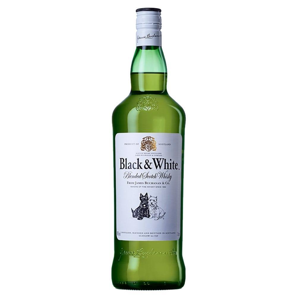 Whisky Escocês 8 Anos Garrafa 1 Litro - Black & White