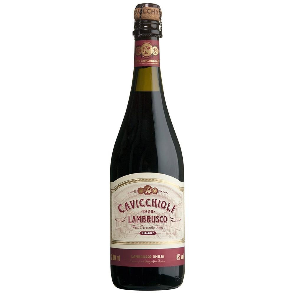 Vinho Italiano Tinto Lambrusco Garrafa 750ml - Cavicchioli