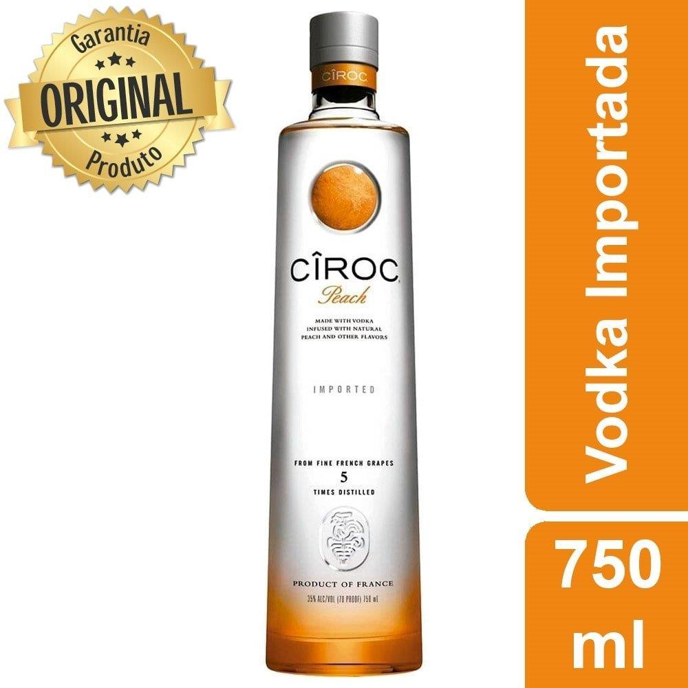 Vodka Francesa Peach Garrafa 750ml - Cîroc