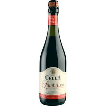 Vinho Italiano Tinto Meio Seco e Fino Cella Garrafa 750ml - Lambrusco