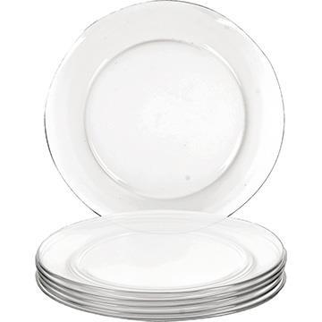 Conjunto de Pratos Rasos de Vidro 24 peças Astral Gourmet p/ Kilo - Marinex