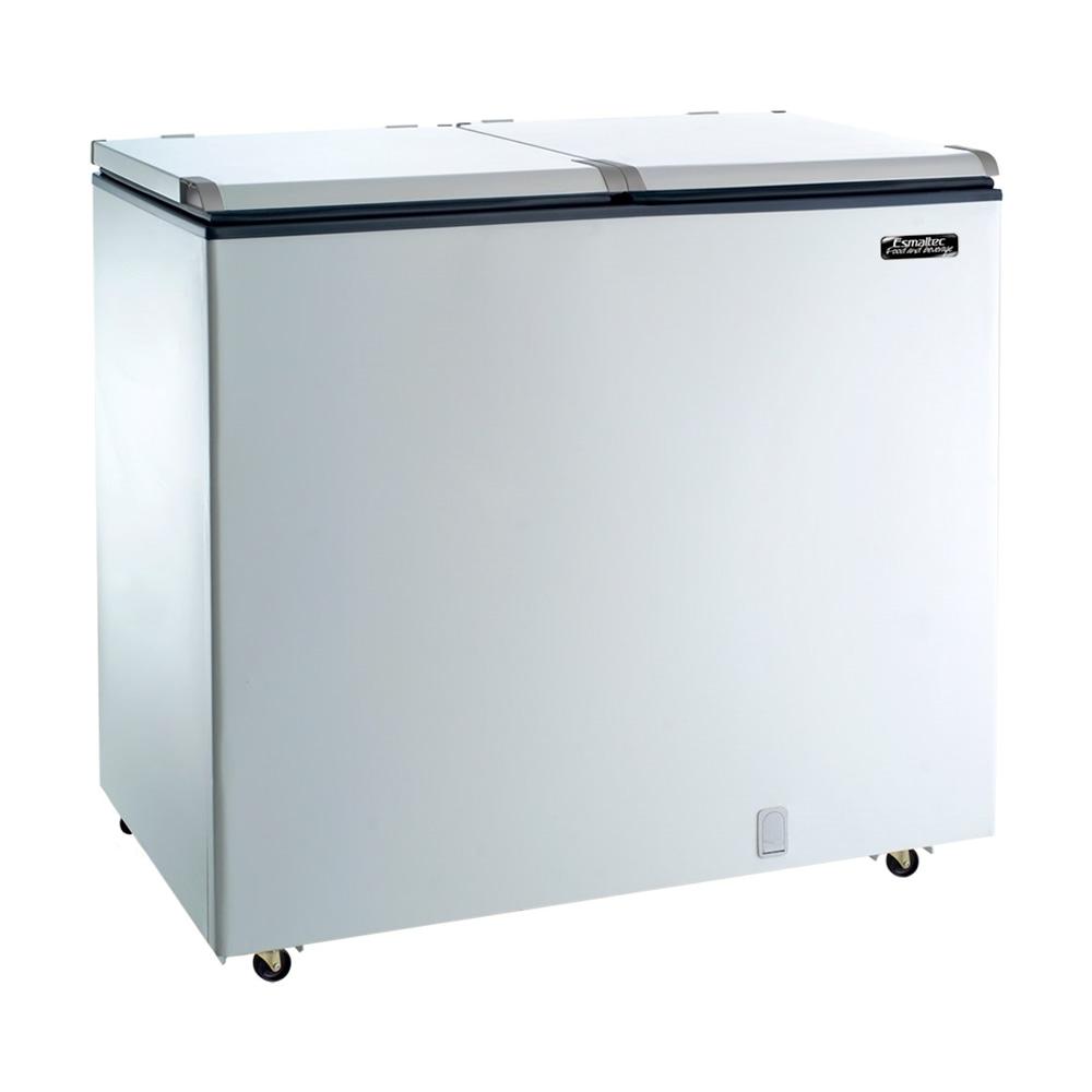 Freezer e Refrigerador Horizontal Esmaltec (Dupla Ação) 2 Tampas 325 Litros...