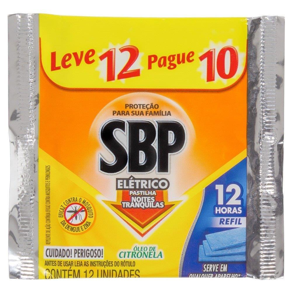 Inseticida Eletrico Refil Sbp Citronela 20 Embalagens c/ 12 Unidades