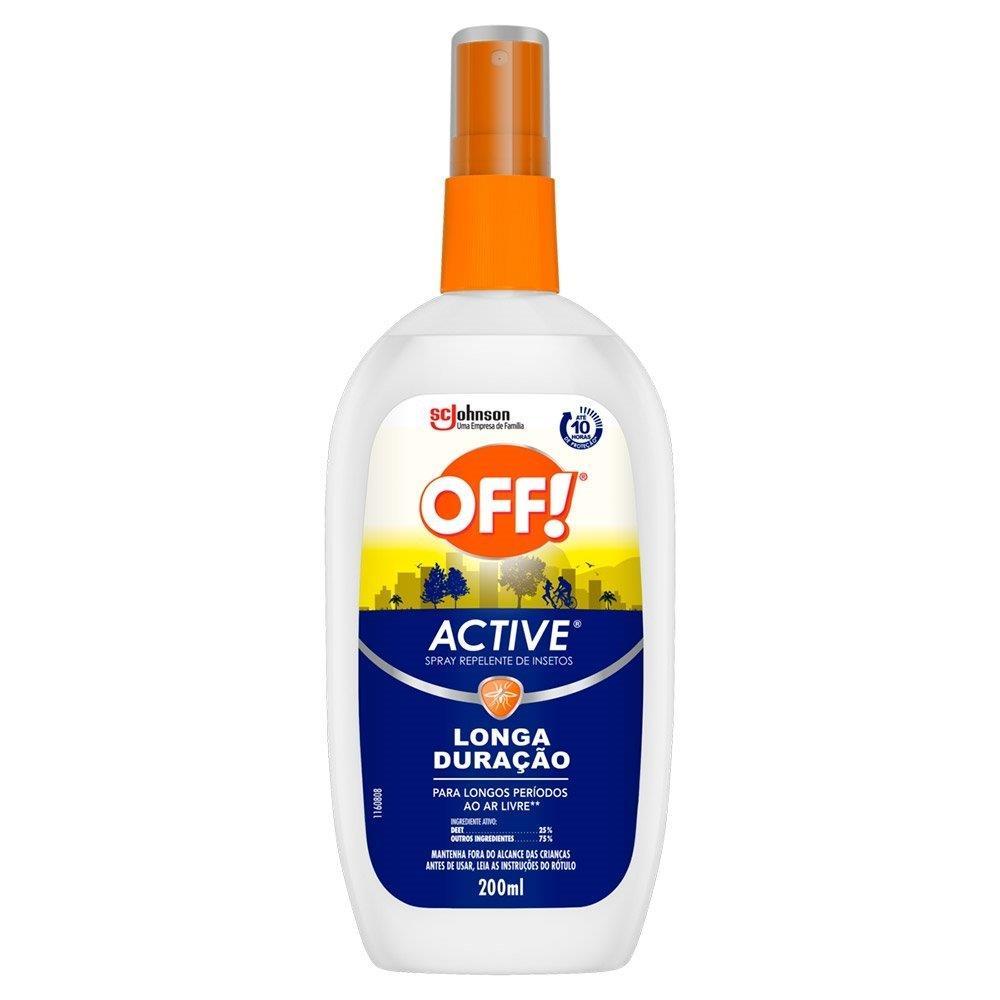 Repelente De Insetos Off Spray Longa Duração 200ml