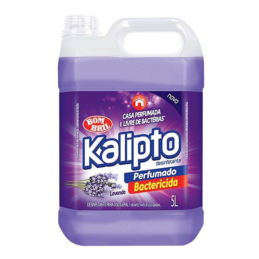 Desinfetante Kalipto Lavanda 5L Embalagem com 4 Unidades