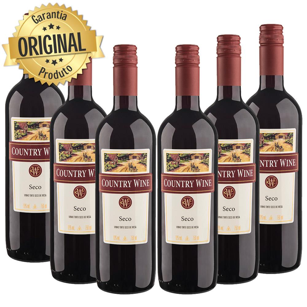 Kit 5 Country Wine Tinto Seco 750ML