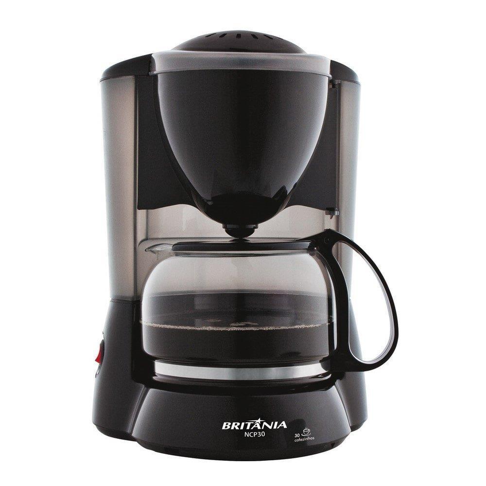 Cafeteira Elétrica 30 Xícaras Preta CP30 - Britânia
